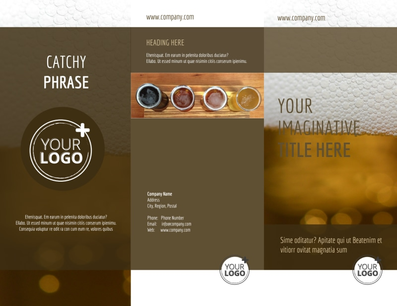 Brew Pub - Beer List Brochure Template Preview 2