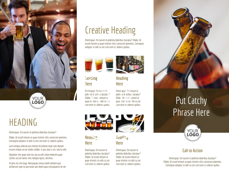Brew Pub - Beer List Brochure Template Preview 3