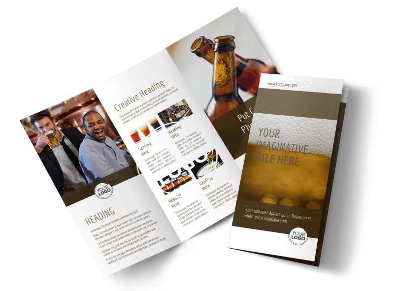 Brew Pub - Beer List Brochure Template Preview 1