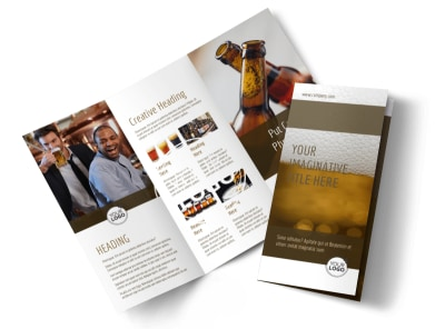 Brew Pub - Beer List Tri-Fold Brochure Template