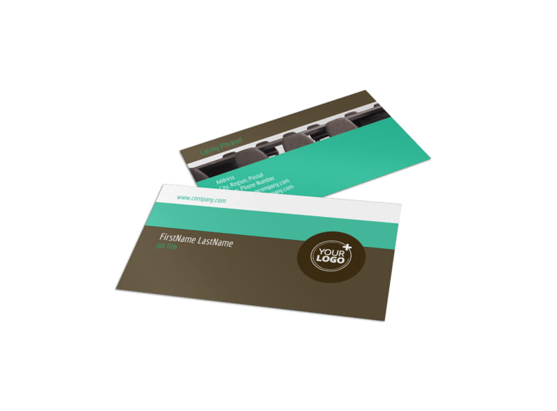 Real Estate Conference Business Card Template Preview 4