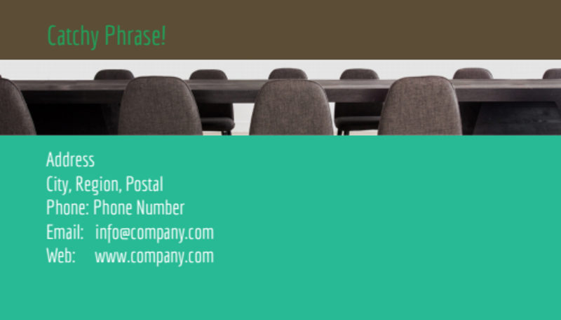 Real Estate Conference Business Card Template Preview 3