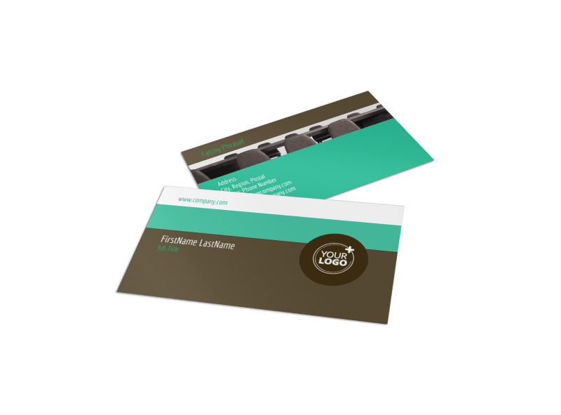 Real Estate Conference Business Card Template Preview 1