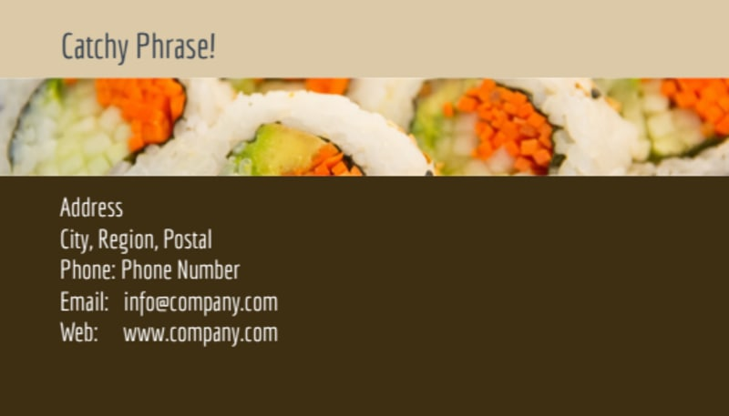 Asian Restaurant Business Card Template Preview 3