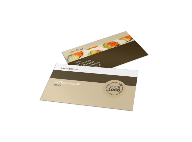 Asian Restaurant Business Card Template Preview 1