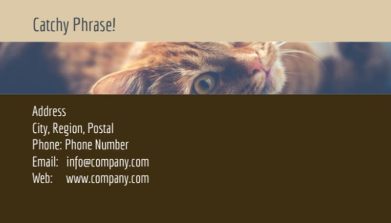 Pet Rescue Business Card Template Preview 3