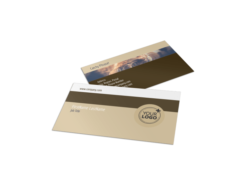 Pet Rescue Business Card Template Preview 1