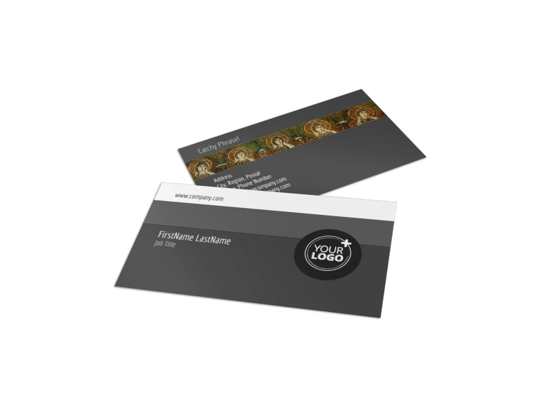 Art Exhibit Business Card Template