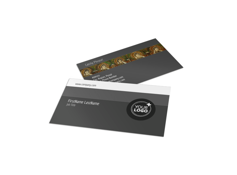 Art Exhibit Business Card Template Preview 1