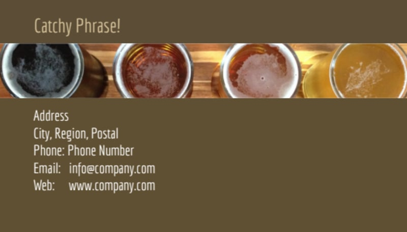 Brew Pub - Beer List Business Card Template Preview 3