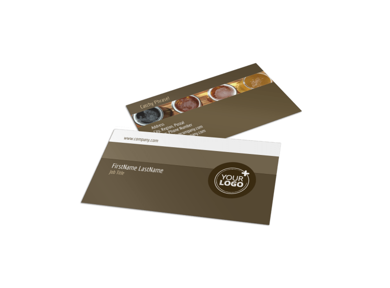 Brew Pub - Beer List Business Card Template Preview 1