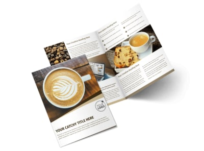 Coffee Latte Bi-Fold Brochure Template 2