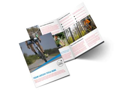 Biking & Cycling Activities Bi-Fold Brochure Template 2