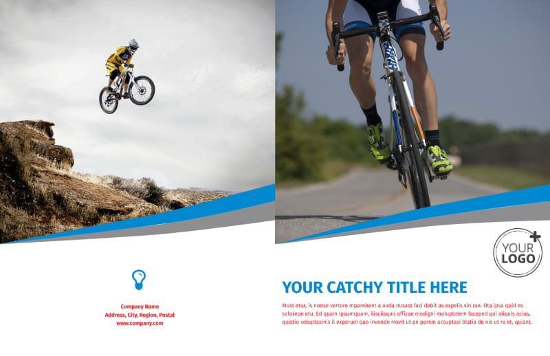 Biking & Cycling Activities Brochure Template Preview 2
