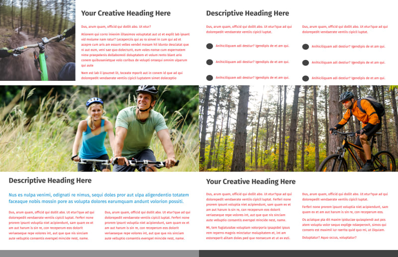 Biking & Cycling Activities Brochure Template Preview 3