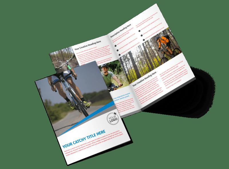 Biking & Cycling Activities Brochure Template Preview 1
