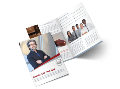 Criminal Law Firms Bi-Fold Brochure Template 2