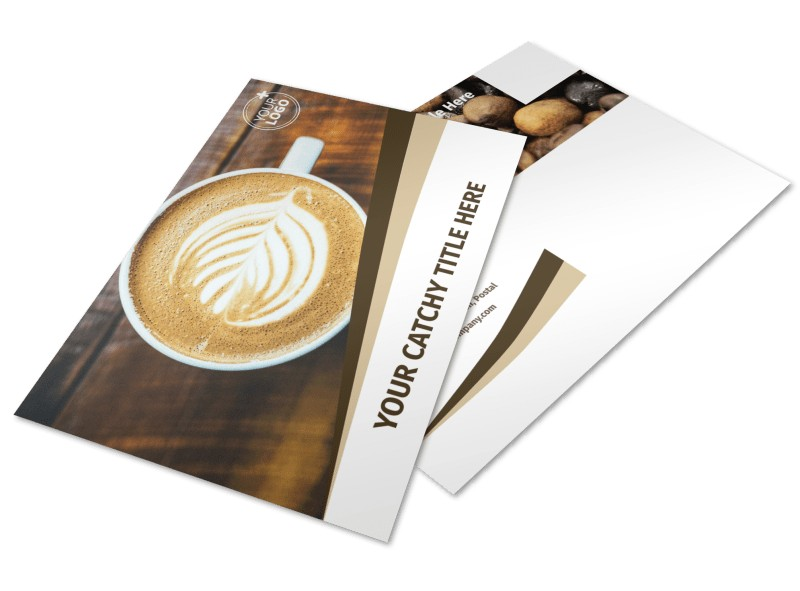 Coffee Latte Postcard Template 2