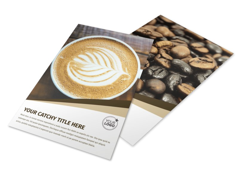 Coffee Latte Flyer Template 3