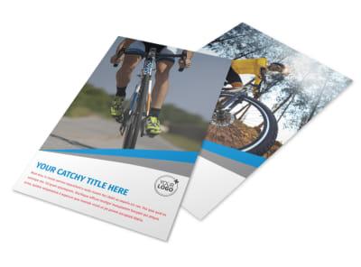 Biking & Cycling Activities Flyer Template 3