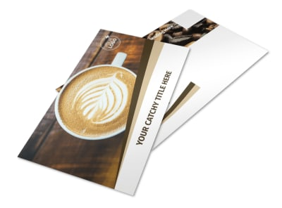 Coffee Latte Postcard Template