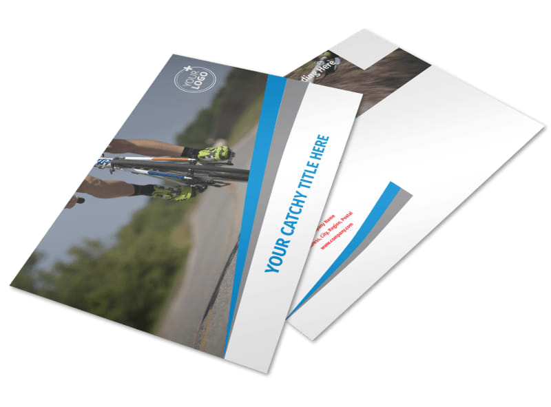Biking & Cycling Activities Postcard Template Preview 4
