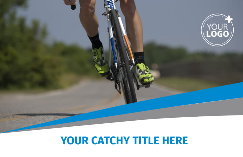 Biking & Cycling Activities Postcard Template Preview 2
