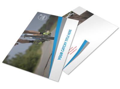 Biking & Cycling Activities Postcard Template preview