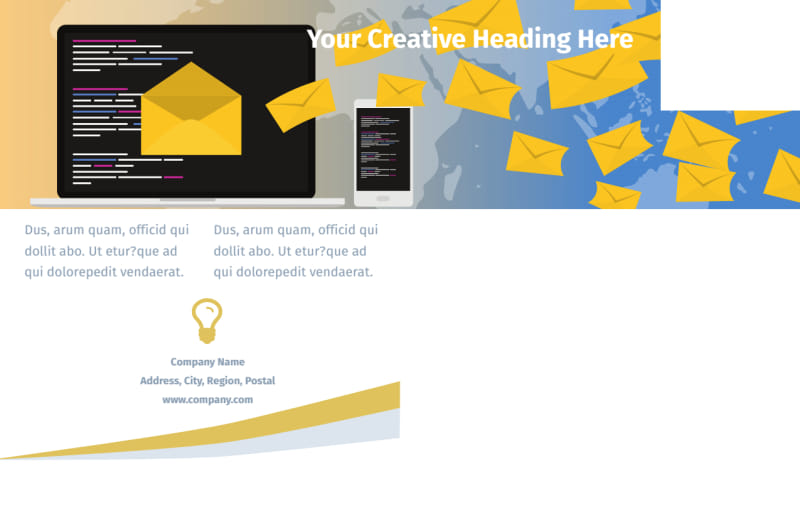 Digital Marketing Agency Postcard Template Preview 3