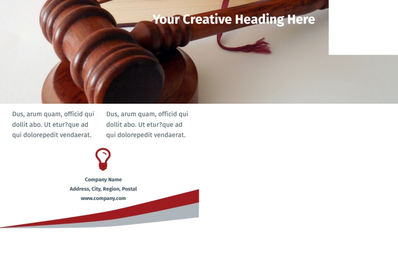 Criminal Law Firms Postcard Template Preview 3