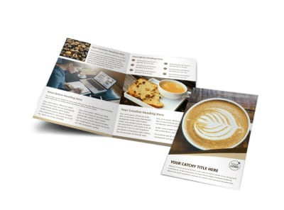 Coffee Latte Bi-Fold Brochure Template