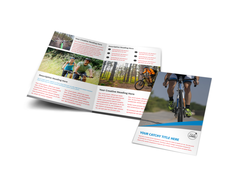 Biking & Cycling Activities Brochure Template Preview 1