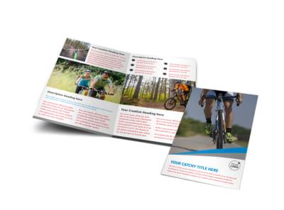 Biking & Cycling Activities Bi-Fold Brochure Template preview