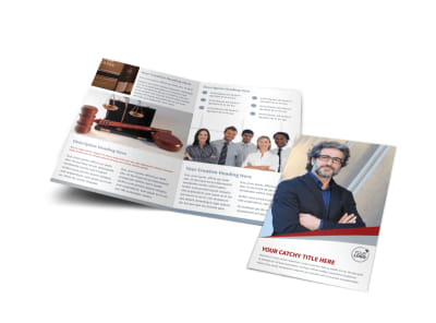 Criminal Law Firms Bi-Fold Brochure Template