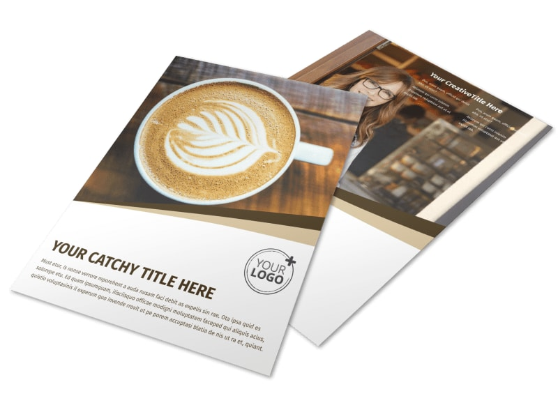 Coffee Shop Brochure Template  Mycreativeshop