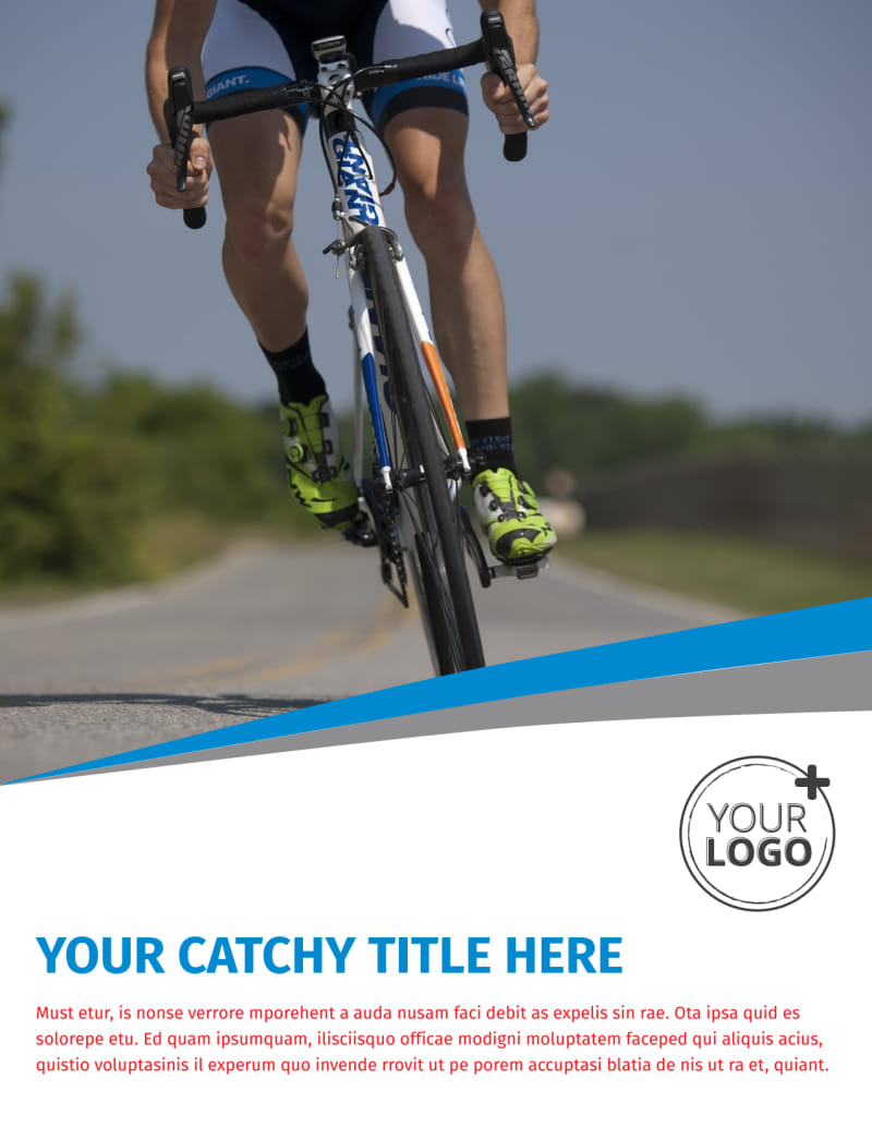 Biking & Cycling Activities Flyer Template Preview 2