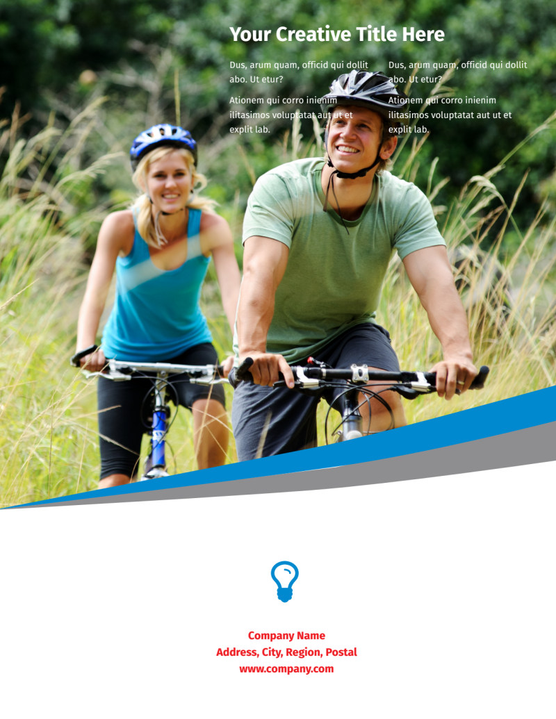 Biking & Cycling Activities Flyer Template Preview 3