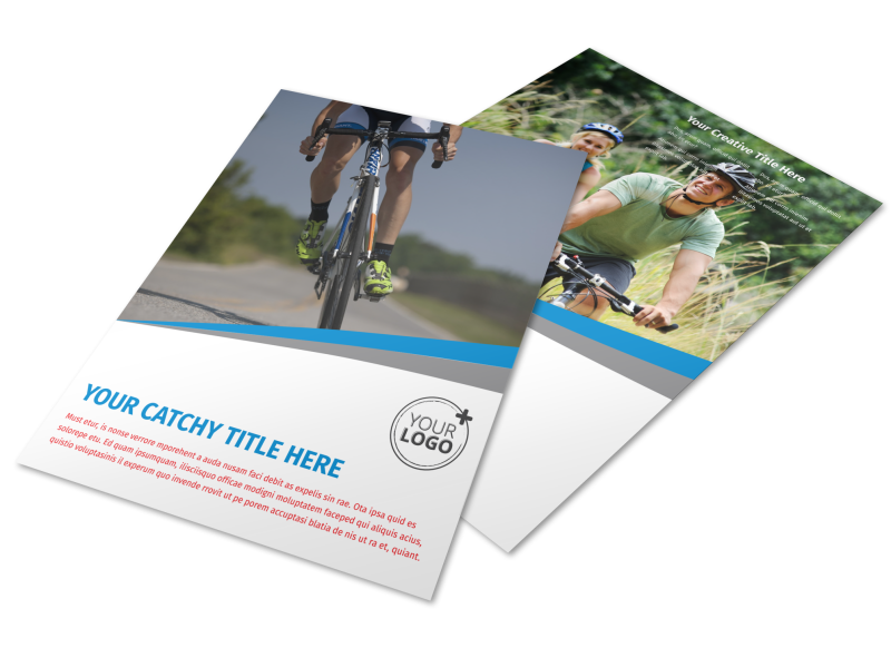 Biking & Cycling Activities Flyer Template Preview 1