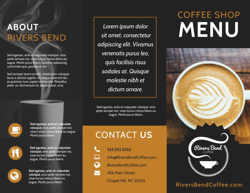 Coffee Shop Brochure Template Preview 2