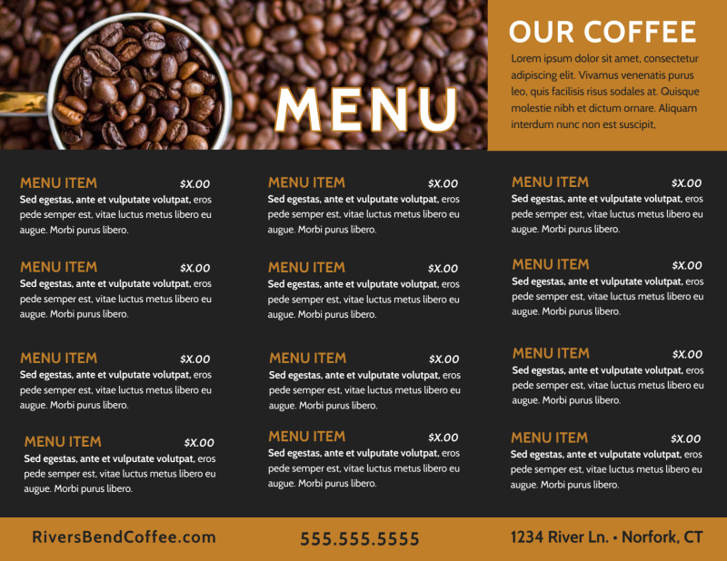 Coffee Shop Brochure Template Preview 3