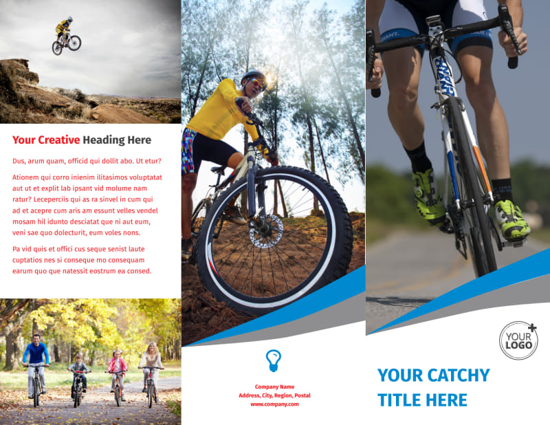 Biking & Cycling Activities Brochure Template Preview 2