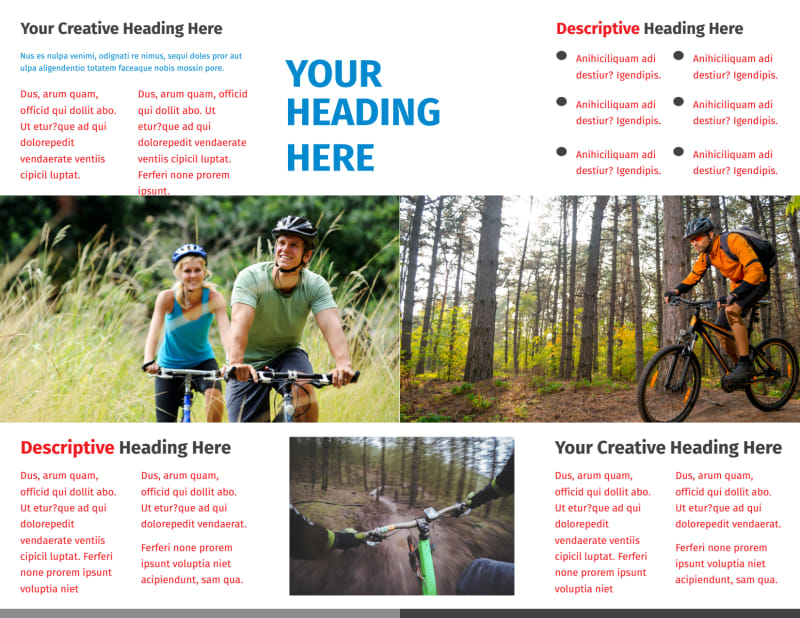 Biking & Cycling Activities Brochure Template Preview 3