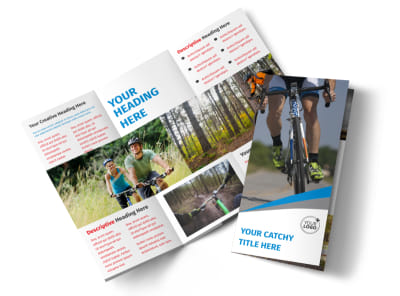 Biking & Cycling Activities Tri-Fold Brochure Template preview