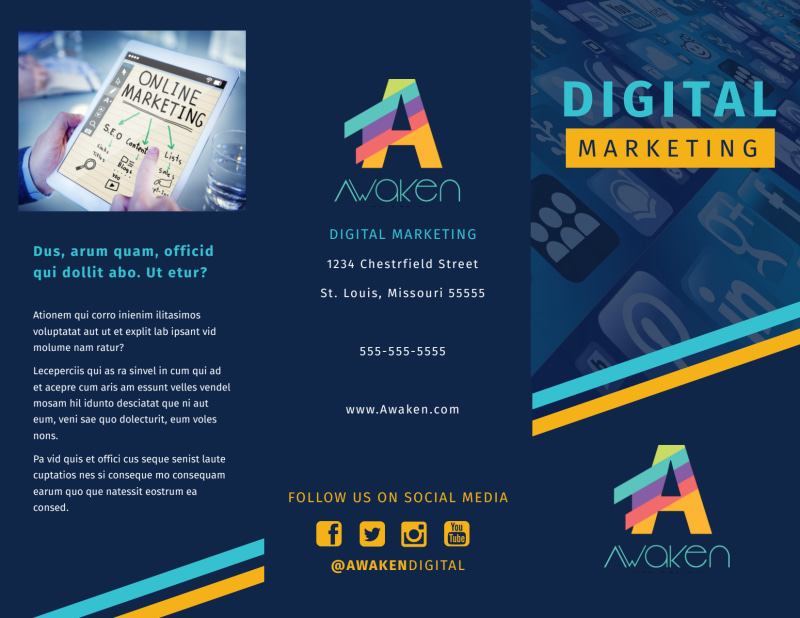 Digital Marketing Agency Brochure Template Preview 2