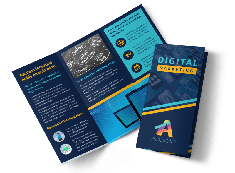 Digital Marketing Agency Brochure Template Preview 1