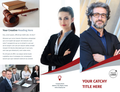 Criminal Law Firms Brochure Template Preview 1