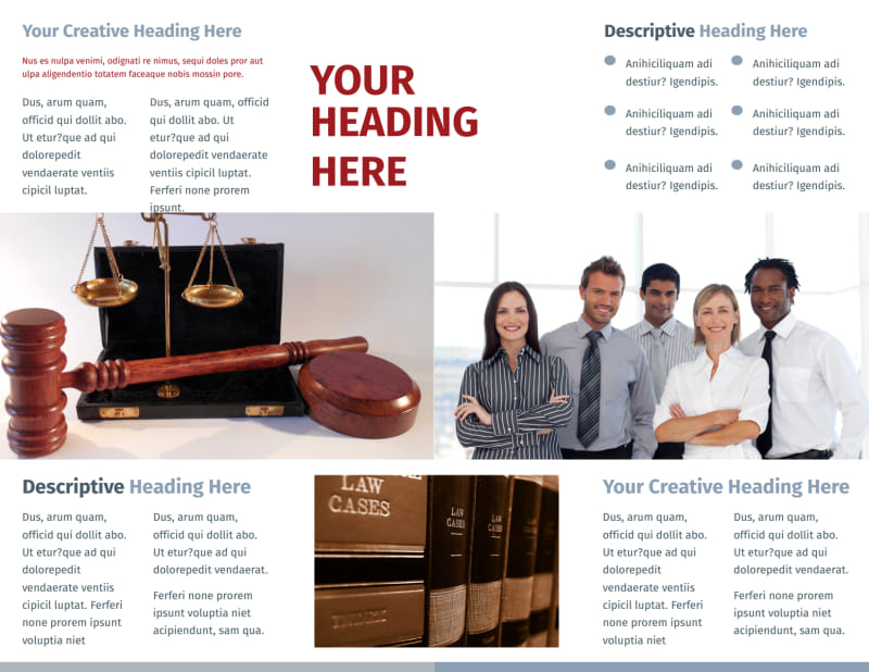Criminal Law Firms Brochure Template Preview 3