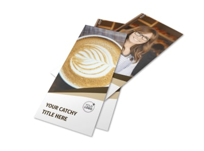 Coffee Latte Rack Card Template 2 preview