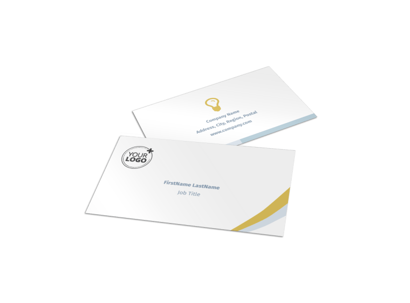Digital Marketing Agency Business Card Template Preview 1
