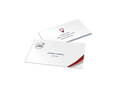 Criminal Law Firms Business Card Template preview